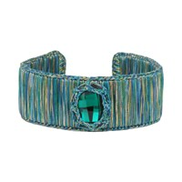Boks And Baum New York Cuff Bracelet Small Emerald Spirit Green