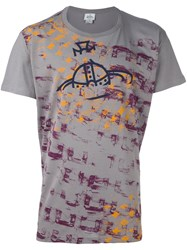 Vivienne Westwood Man Graphic Print T Shirt Grey