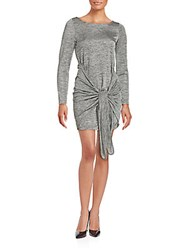 The Kooples Knot Accent Heathered Dress Grey