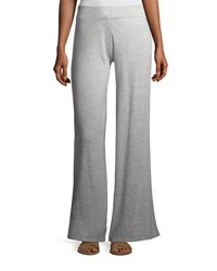 Minnie Rose Palazzo Knit Pants Heather Grey