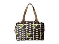 Orla Kiely Early Bird Print Zip Shopper Granite Handbags Gray