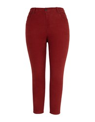 Melissa Mccarthy Seven7 Plus Skinny Fit Corduroy Pants Red