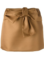 N 21 N.21 Bow Tie Mini Skirt Brown