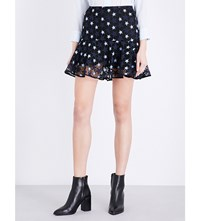 Sandro Cannes Lace Skirt Navy Blue