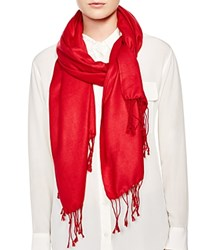 Bloomingdale's C By Fringe Scarf 100 Exclusive Red