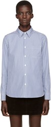 A.P.C. Blue Striped Shirt