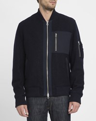 Gant Navy Boiled Wool Jacket Blue