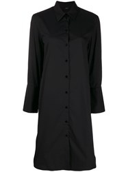 Joseph Victor Poplin Short Dress Black