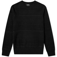 A.P.C. Nicolas Cable Crew Knit Black