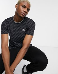 Puma Repeat Logo T Shirt Black