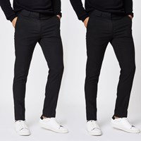 River Island Black Stretch Skinny Smart Trousers 2 Pack