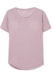 Madewell Striped Cotton Jersey T Shirt Red