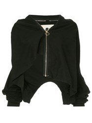 Aganovich Layered Zip Up Jacket Black