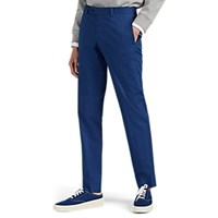 Barneys New York Cotton Slim Trousers Navy