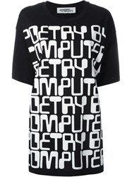 Jeremy Scott Computer Letters Oversized T Shirt Black