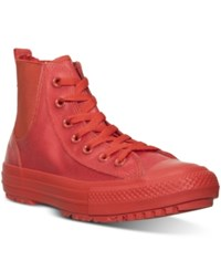 Converse Women's Chelsee Boot With Translucent Rubber Casual Sneakers From Finish Line Signal Red Signal Red Sig