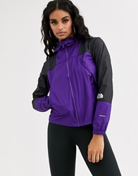 The North Face Mountain Light Windshell Jacket In Purple