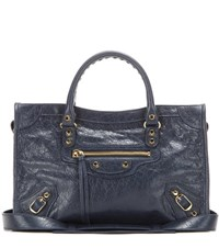 Balenciaga Classic City S Leather Tote Blue