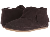 Toms Zahara Bootie Chocolate Brown Suede Women's Slip On Shoes