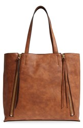 Chelsea 28 Chelsea28 Leigh Faux Leather Tote And Zip Pouch Brown Cognac