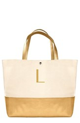 Cathy's Concepts Personalized Canvas Tote Yellow Gold L