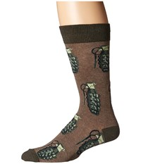 Socksmith Put A Pin In It Brown Heather Crew Cut Socks Shoes