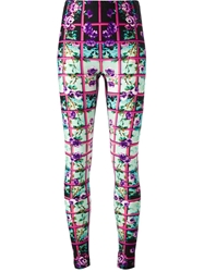 Mary Katrantzou Floral Check Legging Multicolour
