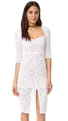 For Love And Lemons Rosalita Pencil Dress White