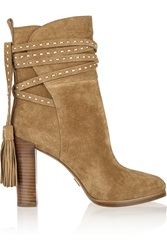 Michael Kors Palmer Tasseled Suede Ankle Boots
