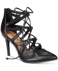 Rampage Sleepless Lace Up Pumps Women's Shoes Black