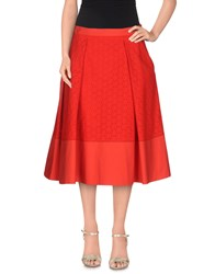 Salvatore Ferragamo Skirts 3 4 Length Skirts Women Red