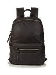 Lanvin Grained Leather Backpack Black
