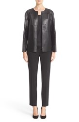 Lafayette 148 New York Women's 'Iconic Collection Murphy' Tissue Weight Lambskin Leather Jacket
