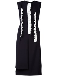 Comme Des Garcons Layered Midi Dress Blue