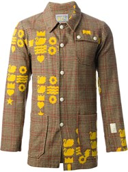 Walter Van Beirendonck Vintage Plaid Worker Jacket Nude And Neutrals
