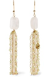 Rosantica Etrusca Gold Tone Quartz Earrings