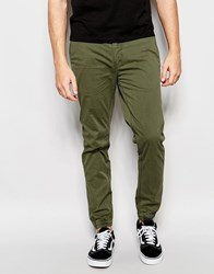 Minimum Chino With Cuff Bottom In Green 847 Olivine