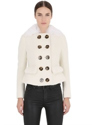 Burberry Prorsum Shaved Shearling Jacket