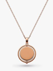Kit Heath Personalised Spinning Round Pendant Necklace Rose Gold
