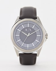 Armani Exchange Ax2622 Drexler Leather Watch In Brown 44Mm Tan