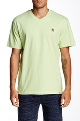 Majestic Embroidered V Neck Tee Green