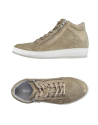 Khrio' Footwear High Tops And Trainers Women Khaki