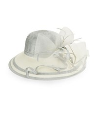 Giovannio Colorblocked Derby Hat Silver