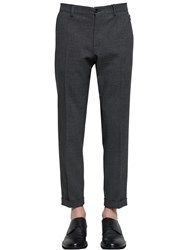 Dolce And Gabbana 17Cm Stretch Cotton Wool Pants