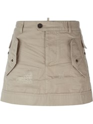 Dsquared2 Mini Skirt Nude And Neutrals