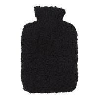 Amara Sheepskin Hot Water Bottle Black