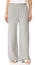 Alexander Wang T By Pull On Wide Leg Pants Heather Grey