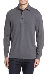 Thaddeus Men's Perry Long Sleeve Polo Graphite