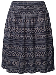 Fat Face Jacquard Stitch Skirt Navy