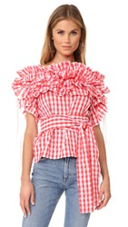 Stylekeepers Sangria Top Checked Red